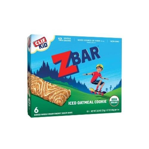 Clif Kid Organic ZBar Iced Oatmeal Cookie Energy Snack 6-1.27 oz. Bars
