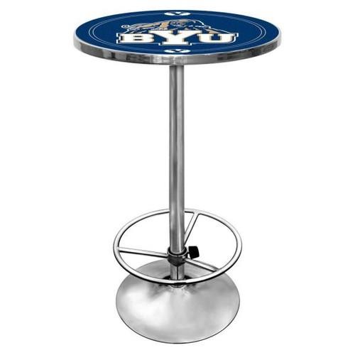 Trademark BYU Chrome Pub/Bar Table