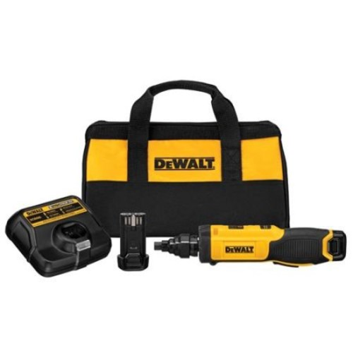 DEWALT 8-Volt MAX Lithium-Ion Cordless Gyroscopic Screwdriver with Conduit Reamer, (2) Batteries 1Ah, 1-Hour Charger and Bag