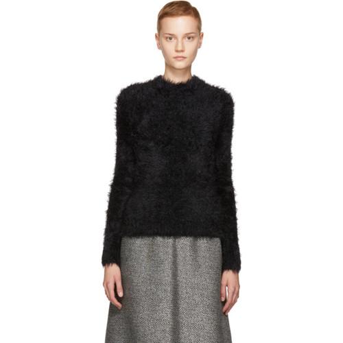 MARNI Black Hairy Knit Crewneck Sweater