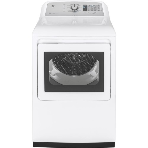 GE 7.4 cu. ft. High-Efficiency Smart Electric Dryer with WiFi in White, ENERGY STAR
