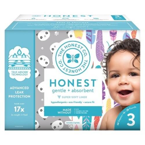 Honest Company Diapers Club Box-Pastel Tribal/Chevron - Size 3 (68 ct)