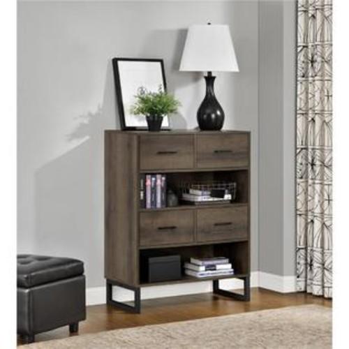 Ameriwood 9665096COM Candon Bookcase with Bins, Sonoma Mocha Oak