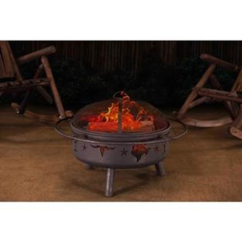 Sunjoy Jasper 32-inch Steel Fire Pit
