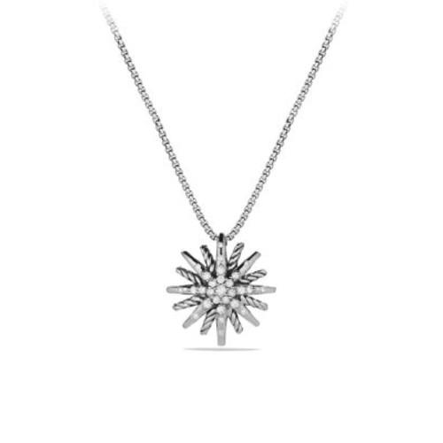 Starburst Small Pendant with Diamonds on Chain