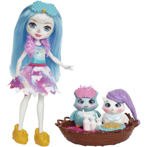 Mattel Enchantimals Sleepover Night Owl Doll Set