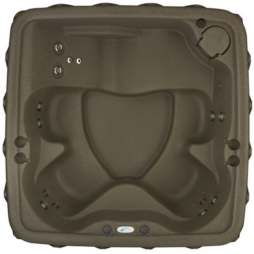 AquaRest Stainless Steel 5-person Spa with 19 Jets and LED Waterfall