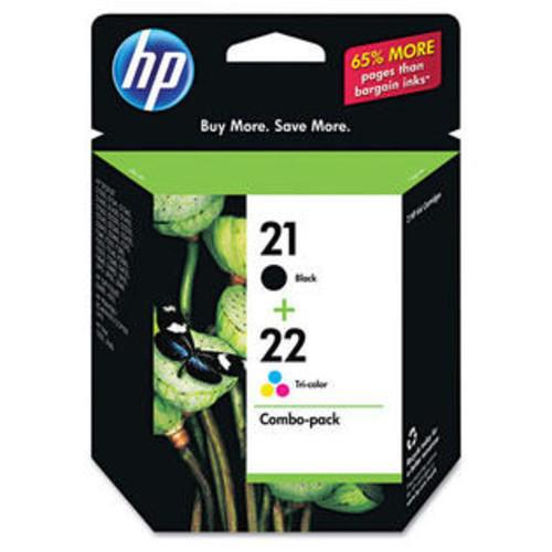 HP C9509FN Hp 21, (c9509fn) Black / Hp 22, Tri-Color 2-Pack Original Ink Cartridges