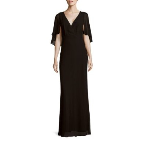 ERIN by Erin Fetherston - Maritza Solid Cape-Sleeve Gown