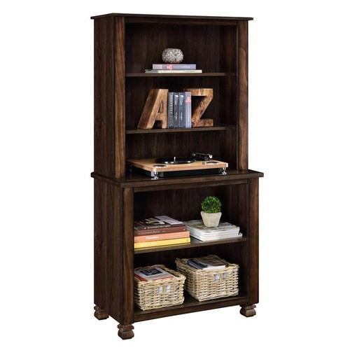 Altra Furniture Wood Veneer Bookcase in Espresso Finish