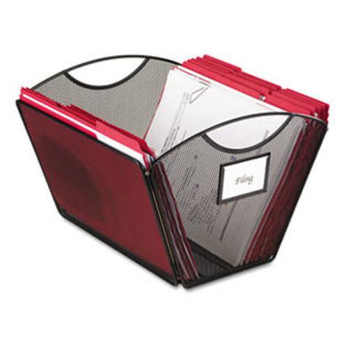 Safco Onyx Mesh Desktop Tub File Storage Box, Letter, Black