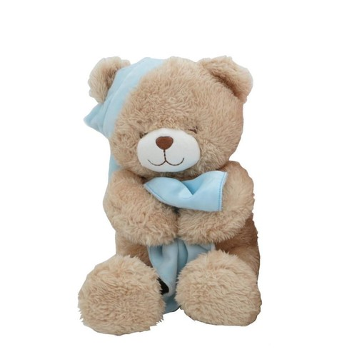 Animal Alley 16-inch Stuffed Sleepy Teddy Bear - Blue