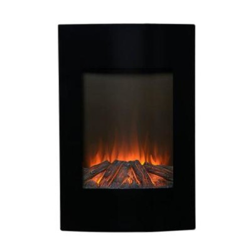 FLAMELUX 23 in. W 1500-Watt Wall-Mount Electric Fireplace Insert in Black with Remote Control
