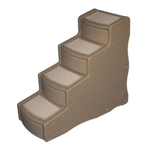 Pet Gear Easy Step IV Pet Stairs, 4-Step for cats and dogs [Tan]