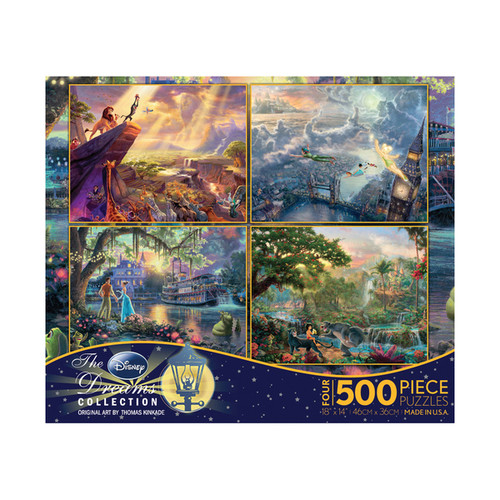 Thomas Kinkade Disney Dreams 4-in-1 Jigsaw Puzzle Multi-Pack Series 1: 4 x 500 Pcs