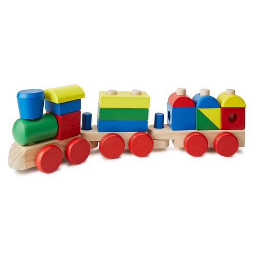 Melissa & Doug Wooden Stacking Train Toy