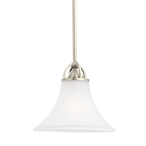 Sea Gull Lighting Somerton 1-Light Antique Brushed Nickel Pendant with LED Bulb