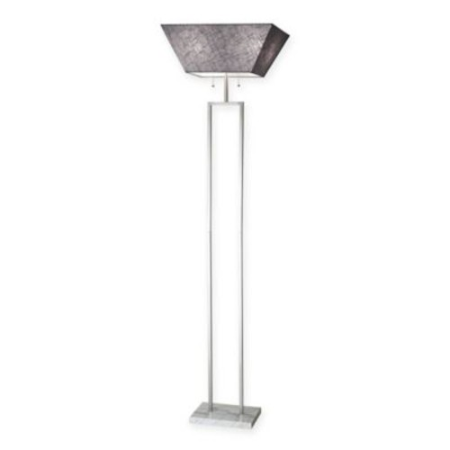 Adesso Chambers Marble and Brushed 2-Light Floor Lamp