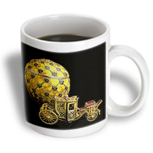 3dRose - Faberge Eggs - Picturing Fabergeu0026#174; Egg Coronation - 11 oz mug