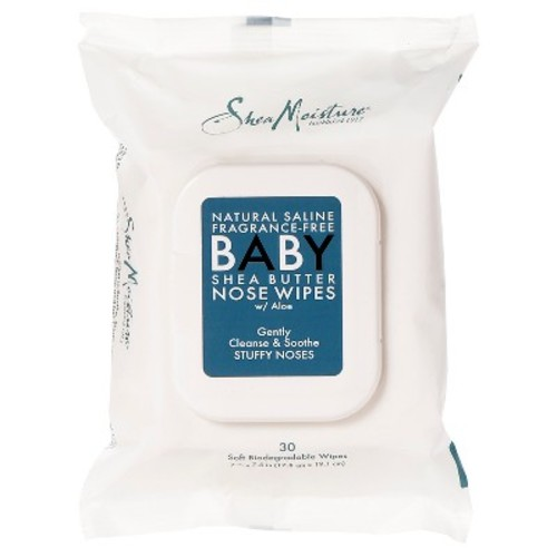 SheaMoisture Fragrance-Free Shea Butter Baby Nose Wipes - 30 ct