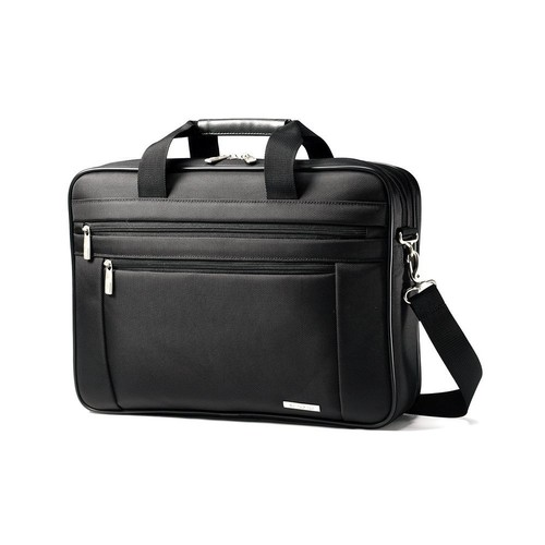Samsonite Luggage Classic Business Two Gusset Briefcase [Black]