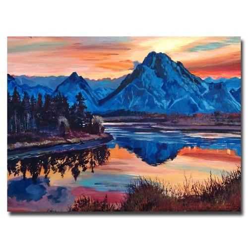 Trademark Global David Lloyd Glover 'Mountain Serenade' Canvas Art [Overall Dimensions : 18x24]