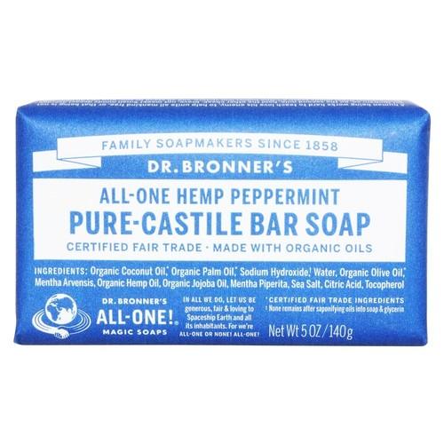 Dr. Bronners - Magic Pure-Castile Bar Soap Organic Peppermint - 5 oz.