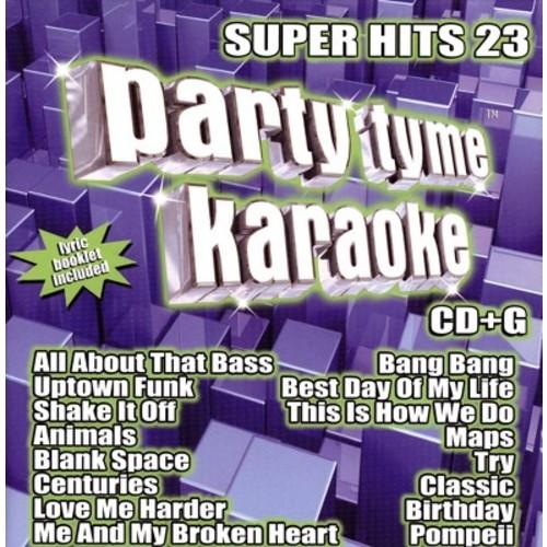 Party Tyme Karaoke: Super Hits 23 CD (CD+G)