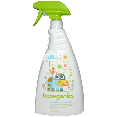 Babyganics Stain and Odor Remover, Fragrance Free, 32 oz