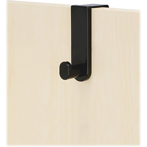 Safco Over-The-Door Single Hook - 2 Hooks - for Garment, Coat - Steel, Plastic - Black - 1 Each