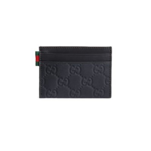 GUCCI Rubber Ssima Leather Card Case
