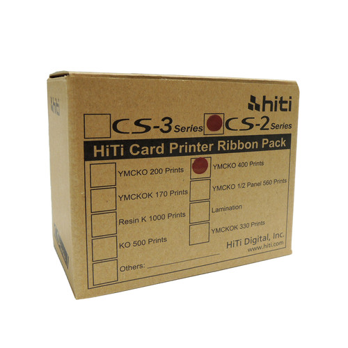 HiTi CS-2 YMCKO 400 Images Ribbon for CS-200e Printer - 87.R0A09.0DX