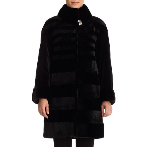 Diagonal Sheared Mink Fur Stroller Coat