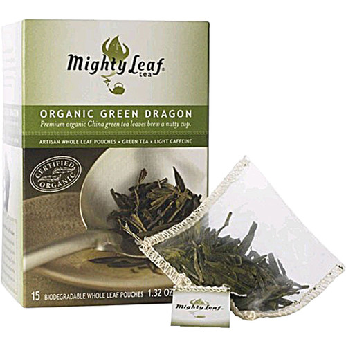 Mighty Leaf Organic Green Dragon Tea Whole Leaf -- 15 Tea Bags