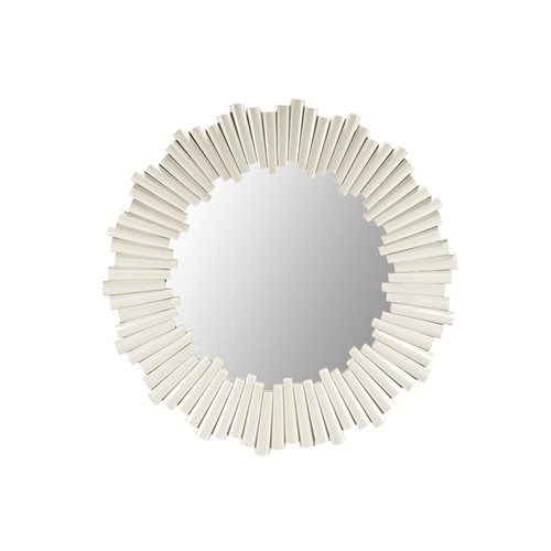 Charles Round Mirror in White design by Selamat