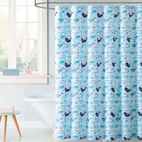 Laura Hart Kids Deep Blue Sea Shower Curtain in Blue