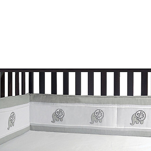 Laugh, Giggle & Smile Elephant Chic 4-Piece Crib Bumper