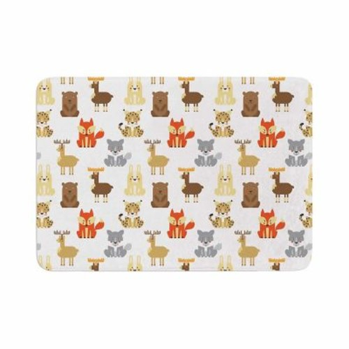 East Urban Home Petit Griffin Retro Animals Memory Foam Bath Rug; 0.5'' H x 17'' W x 24'' D