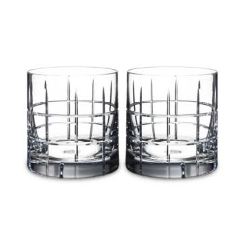 Orrefors Barware, Street Double Old-Fashioned Glasses, Set of 2