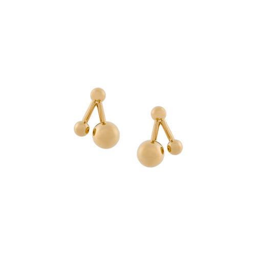 asymmetric ball stud earrings