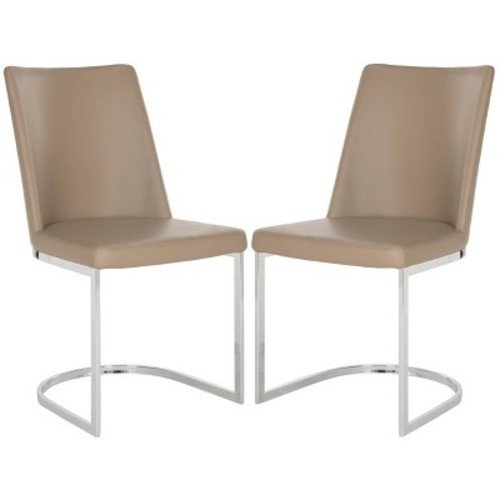 Safavieh Parkston Taupe Side Chair (Set of 2) [Safavieh Parkston Taupe Side Chair Set of 2]