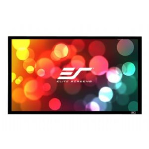 Elite Screens SableFrame 2 Series - Projection screen - 106 in ( 269 cm ) - 16:9 - CineWhite - black
