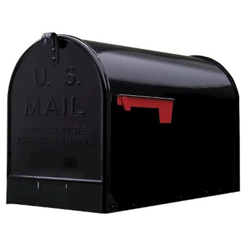 Gibraltar Extra-Large Steel Post-Mount Mailbox - Black