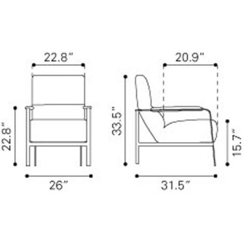 Jonkoping Wheat Arm Chair