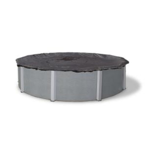 Blue Wave 28 ft. Round Black Rugged Mesh Above Ground Winter Pool Cover