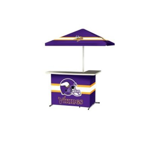 Best of Times Minnesota Vikings All-Weather L-Shaped Patio Bar with 6 ft. Umbrella