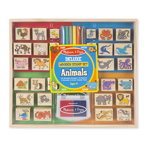 Melissa & Doug Melissa and Doug: Deluxe Animals Wooden Stamp Set