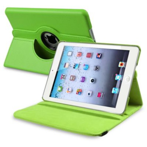 Insten 816062 Leather Swivel Stand Case for Apple iPad Mini with Retina Display Tablet, Green