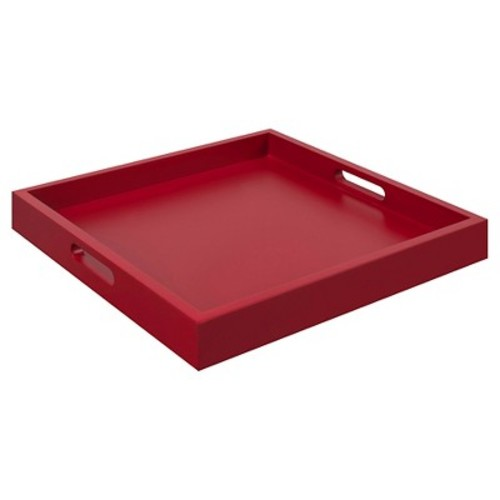 Palm Beach Tray - Red - Convenience Concepts
