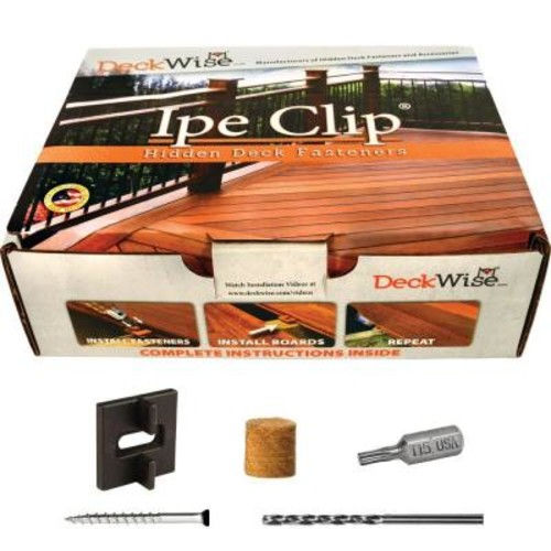 DeckWise Extreme Ipe Clip Black Biscuit Style Hidden Deck Fastener Kit for Hardwoods (175-Pack)